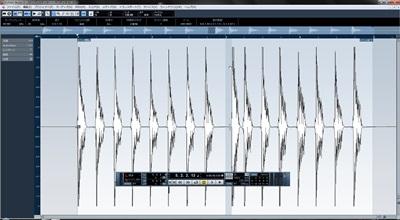 Cubase AudioWarp サンプルエディタ