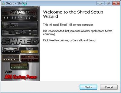 Shred インストール