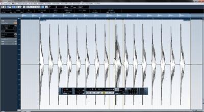 Cubase AudioWarp エディット後