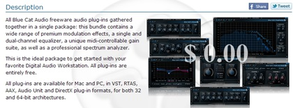 Blue Cat's Freeware Plug-ins Pack II