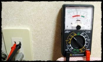 テスターで交流電圧を計測