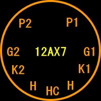 12AX7(ECC83)M1(mT-9pin)