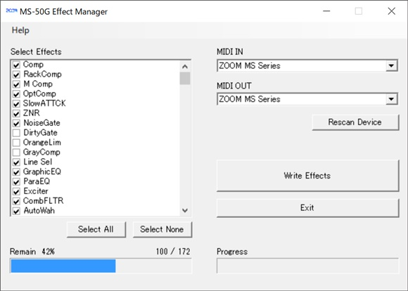 MS-50G Effect Manager