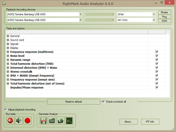 RightMark Audio Analyzer 6.4.0