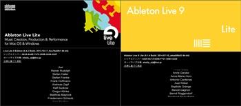 Ableton Live Lite 8とAbleton Live9 Liteの比較
