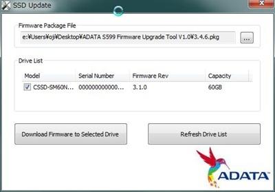 ADATA SSD UPDATE
