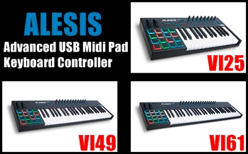 Advanced USB Midi Pad/Keyboard Controller VI25、VI49、VI61
