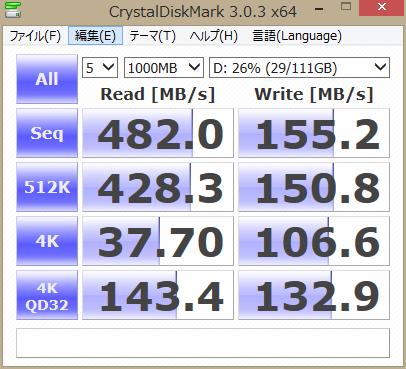 INTEL 520 120GB ベントマーク