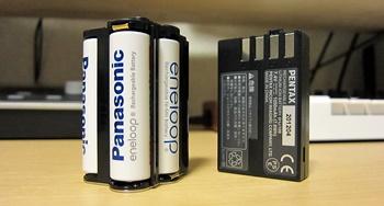 単3形バッテリーホルダー D-BH109とリチウムイオンバッテリー D-LI109