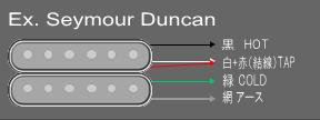 ピックアップのリード線の色