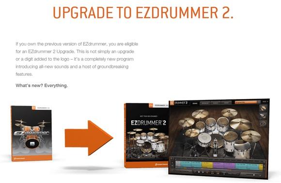 EZDRUMMER 2アップグレード