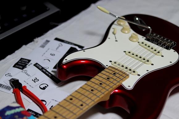 ギター金属パーツのフッ素コート