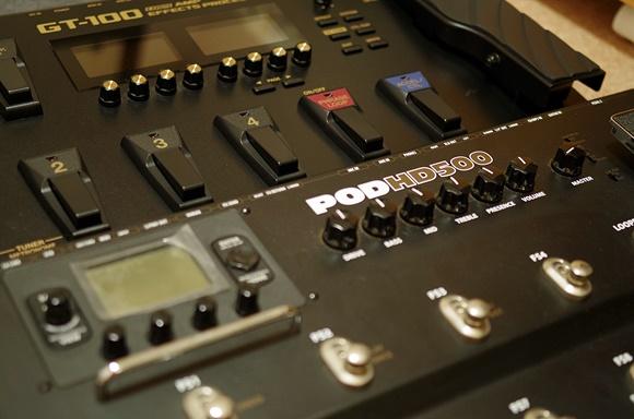 BOSS GT-100/LINE6 POD HD500