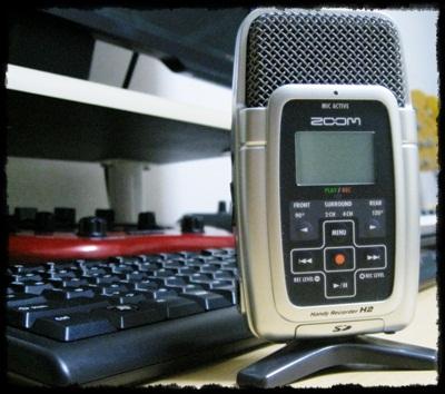 ZOOM H2 WAV録音