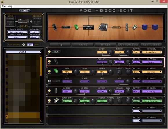 POD HD500 Edit
