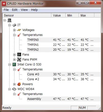 DAWPC ハードウェアモニター