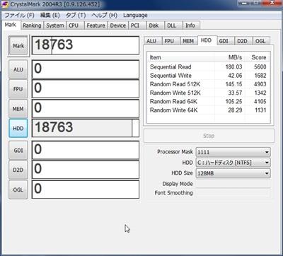 DAWPC SSD ベンチマーク