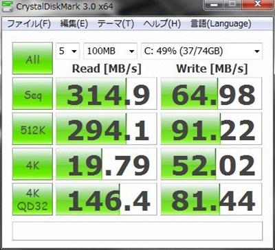 DAWPCベンチマーク SSD RAID0