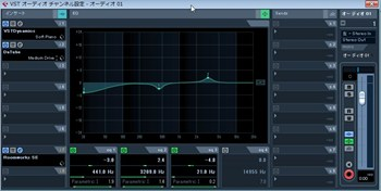 CubaseLE5 VSTエフェクト/イコライザー画面