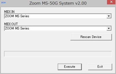 ZOOM MS-50G System v2.00 Updater