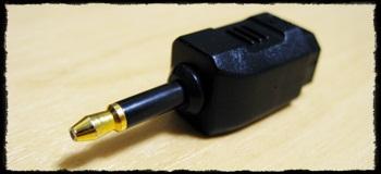 デジタル音声コード オプティカル角型ピン型変換プラグ