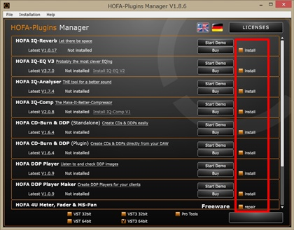 HOFA-Plugins Manager