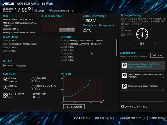PRIME X370-PRO BIOS 3803