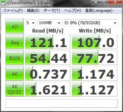 DAWPCベンチマーク シーゲイトHDD1TB