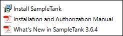 Sample Tank 3 インストール