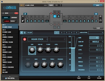 BOSS TONE STUDIO for GT Ver.1.01