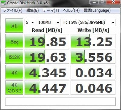 転送速度ベンチマーク SDカード