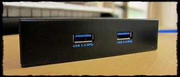 3.5インチベイ用 USB3.0コネクタパネル