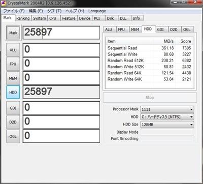 DAWPC SSD RAID0 ベンチマーク