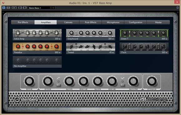 CUBASE8VST Bass Amp