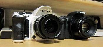 PENTAX K-30とCANON EOS Kiss X4
